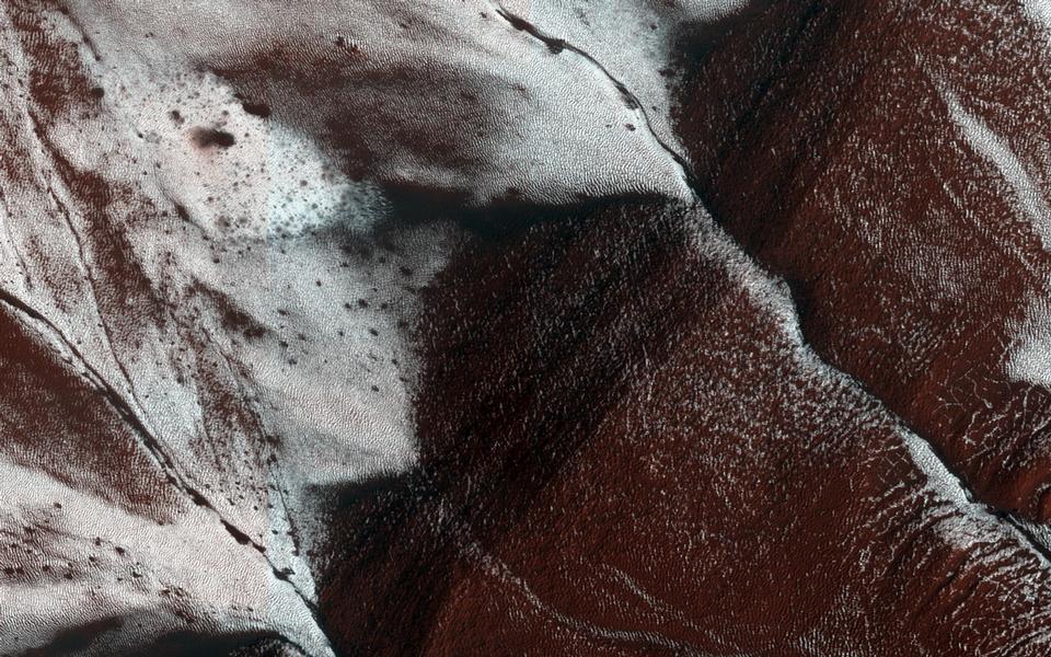 火星上嚴寒的斜坡