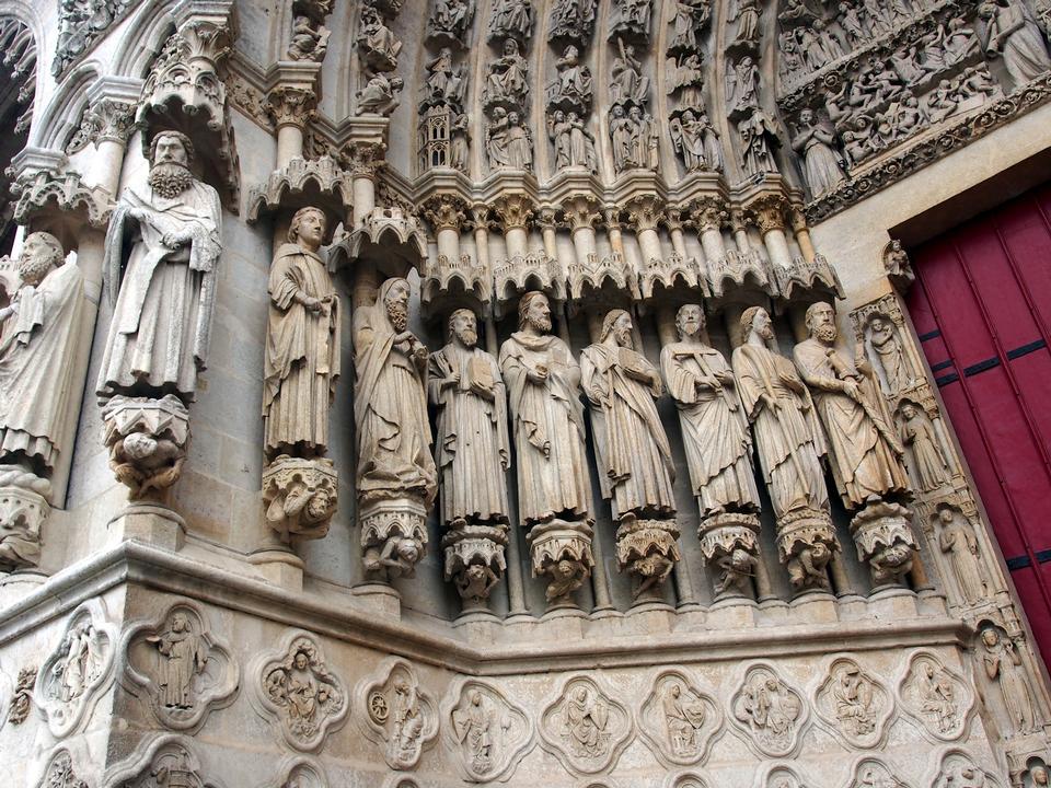在亞眠,索姆河地區,皮卡第,法國天主教大教堂