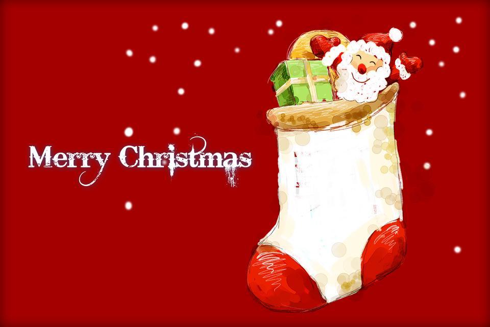 サンタクロースのクリスマスイラスト
