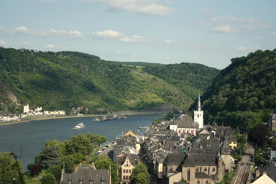 The Rhine river plays a major role in freight transport