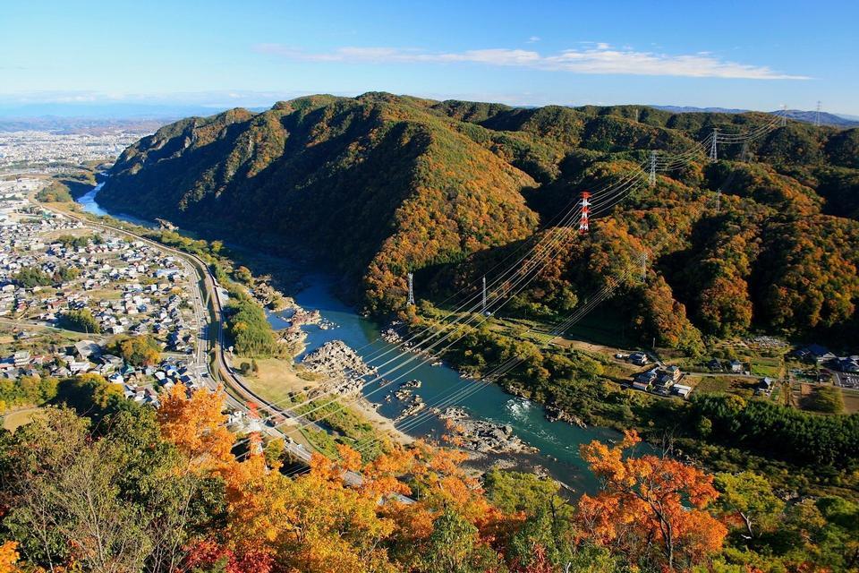 Hot springs town Hokkaido, Japan