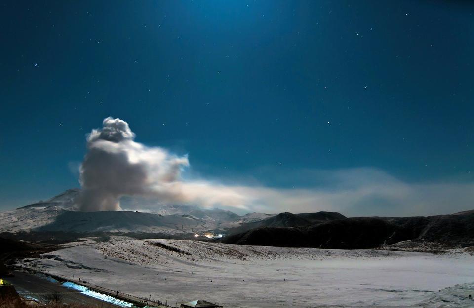 Volcán Kumamoto Japón