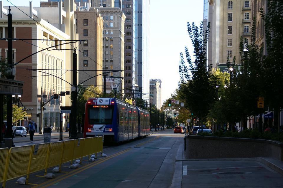 电车在主要街道在盐湖城,犹他