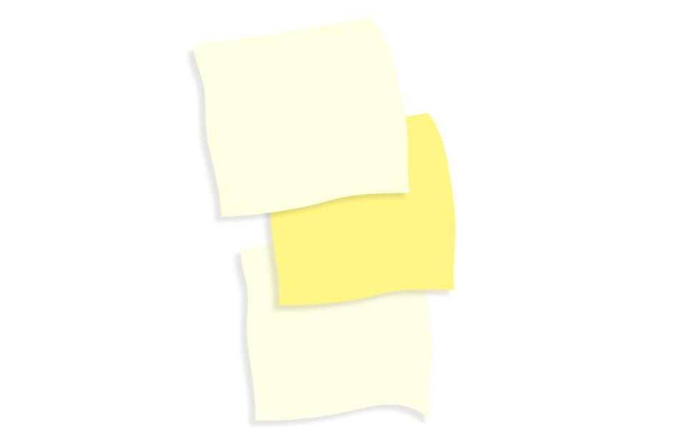 yellow stick notes, vector illustration
