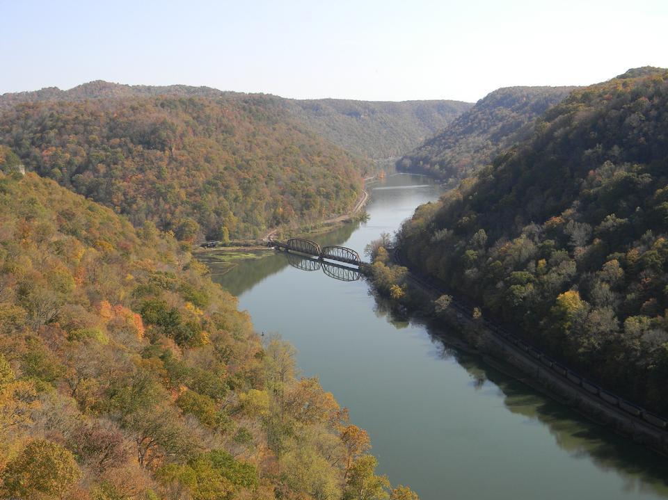 新河鹰巢州立公园在西弗吉尼亚州