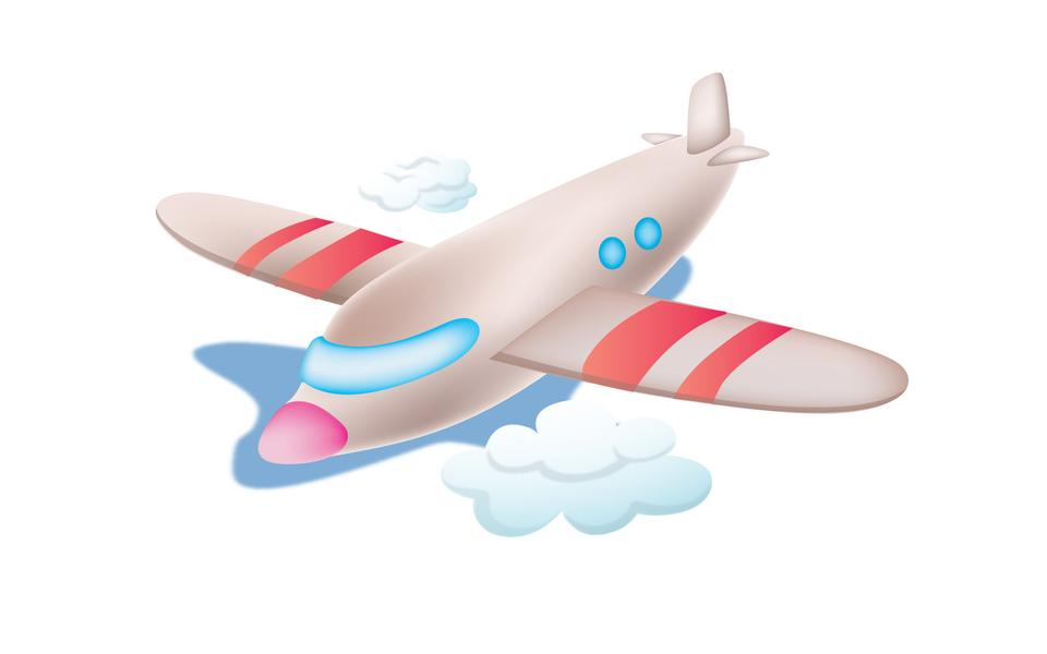Airplane toy. Vector illustration