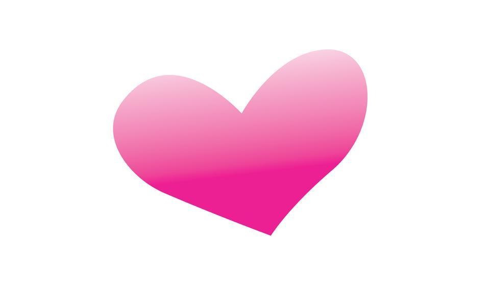 Abstrakt rotes Herz-Icon