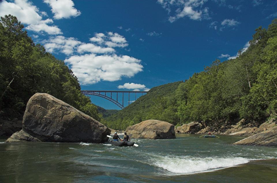 New River Gorge Bridge in Fayette Bahnhof