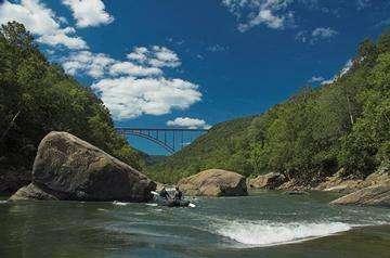 Descarga gratis la imagen de alta resolución - New River Gorge Bridge en la estación de Fayette