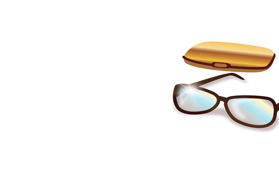 glasses case isolated on white background