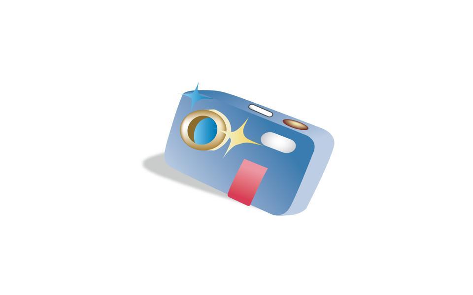 Camera icon in the plastic case