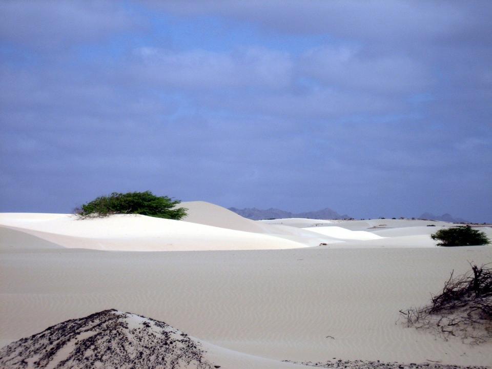 sand desert Viana on the island of Boa Vista, Cape Verde