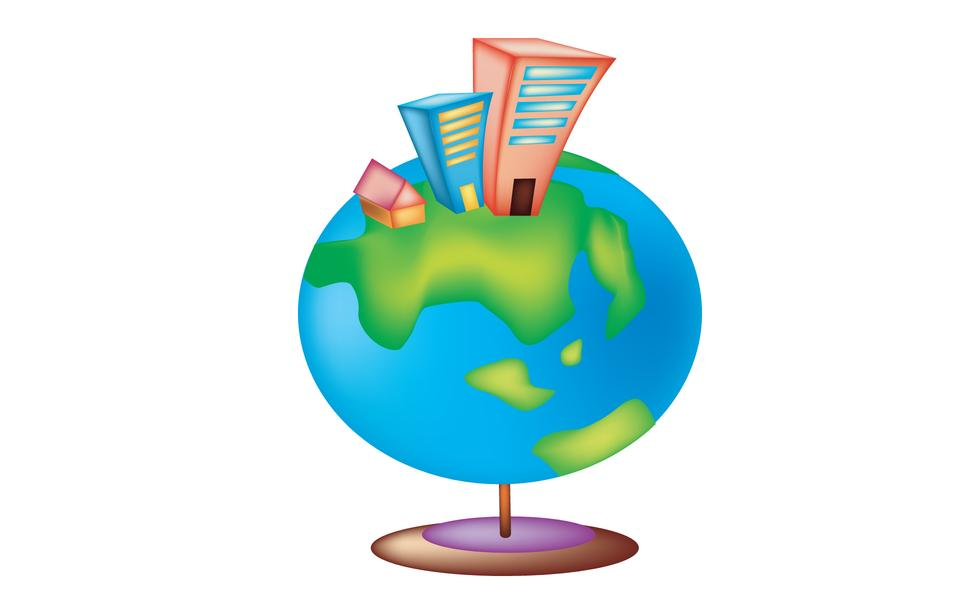 Friendly small Planet. Vector Illustration