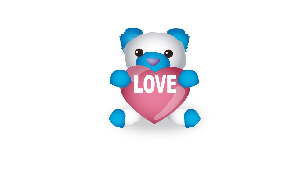 Bear design over white background