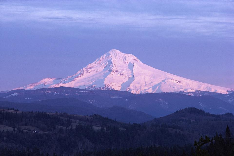 Mount Hood Mountain in Oregon