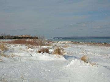 Descarga gratis la imagen de alta resolución - Glen Haven playa en invierno