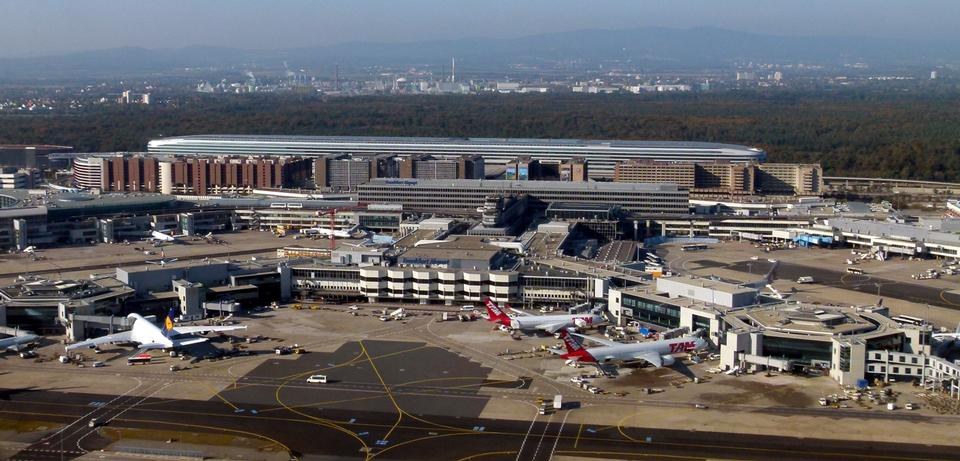 Vista aérea del aeropuerto de Frankfurt