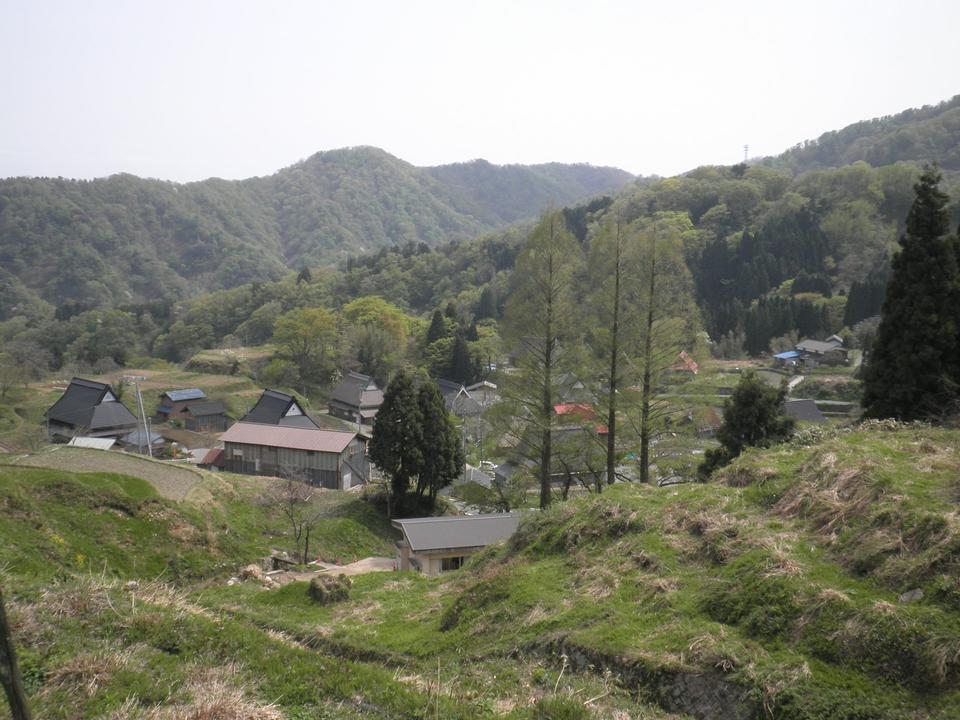 Panoramic view of the village Miyazu Kamiseya Kyoto