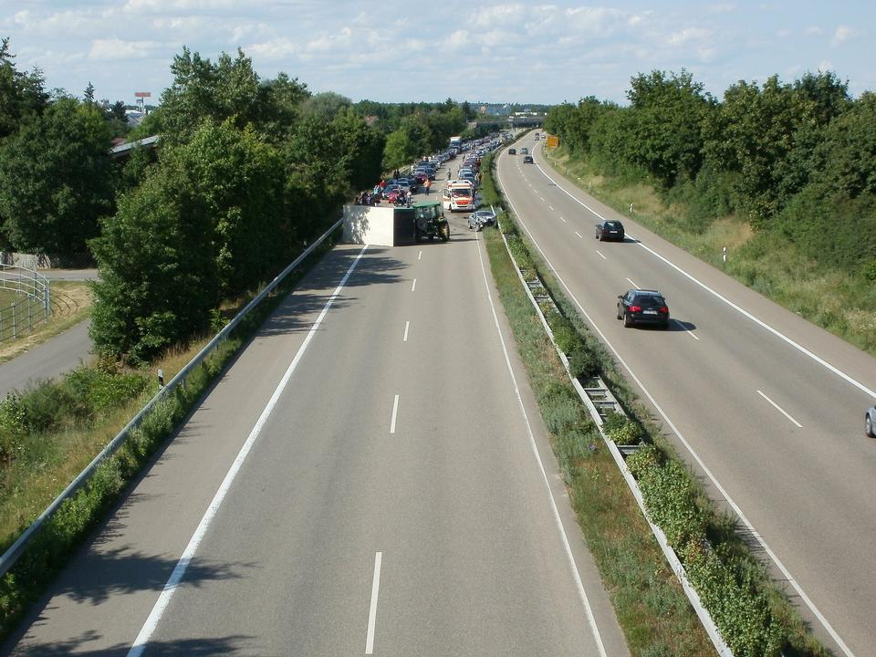 Accident de la circulation à Hockenheim Allemagne