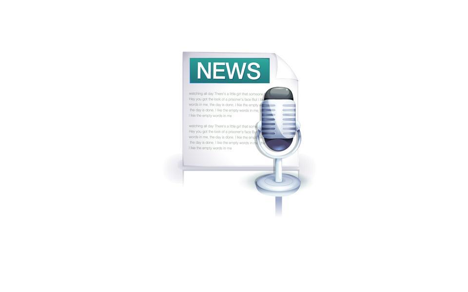 Annonce ou de radio de bonnes nouvelles