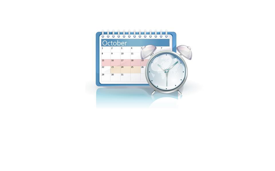 クロックにデスクトップカレンダー