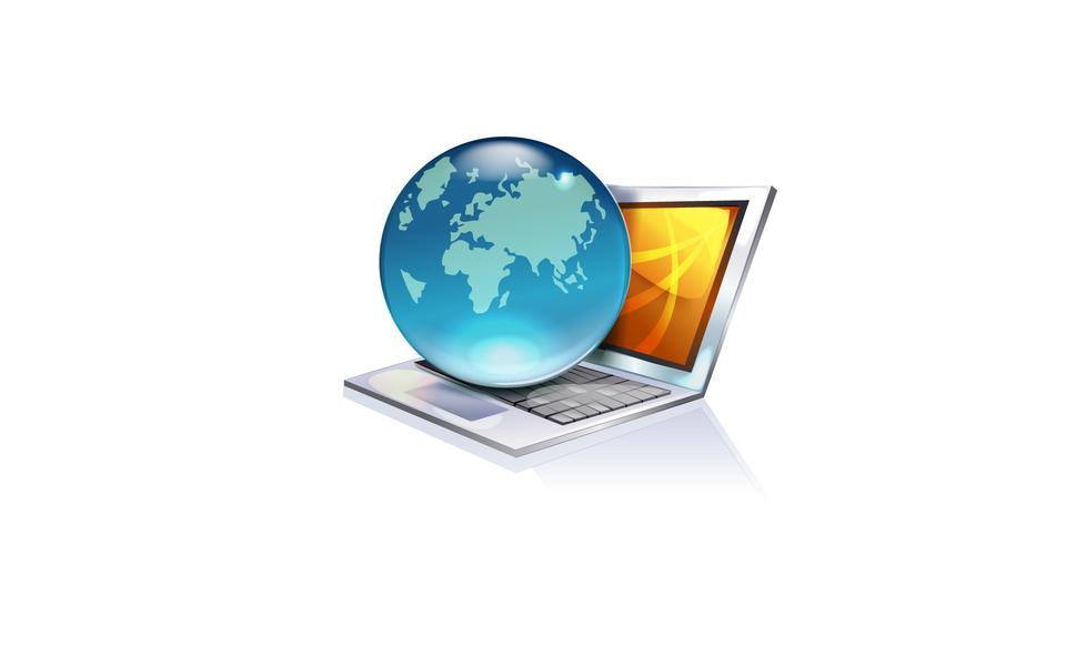 노트북 클라우드 연결 와이파이 디지털 아이콘