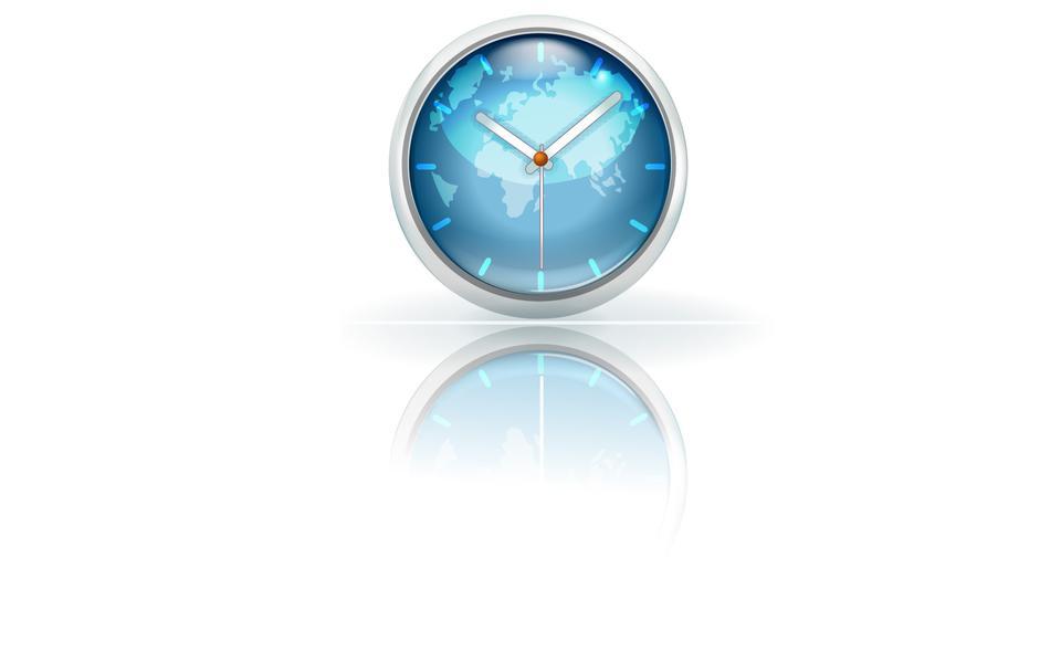 世界時計のイラスト