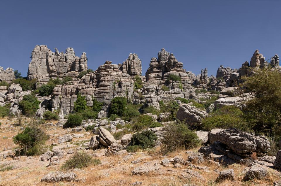 Torcal山脈在西班牙南部