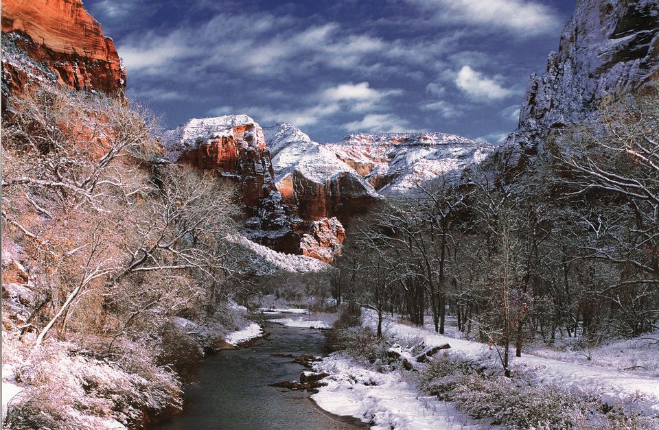 Zion National Park is located in the Southwestern