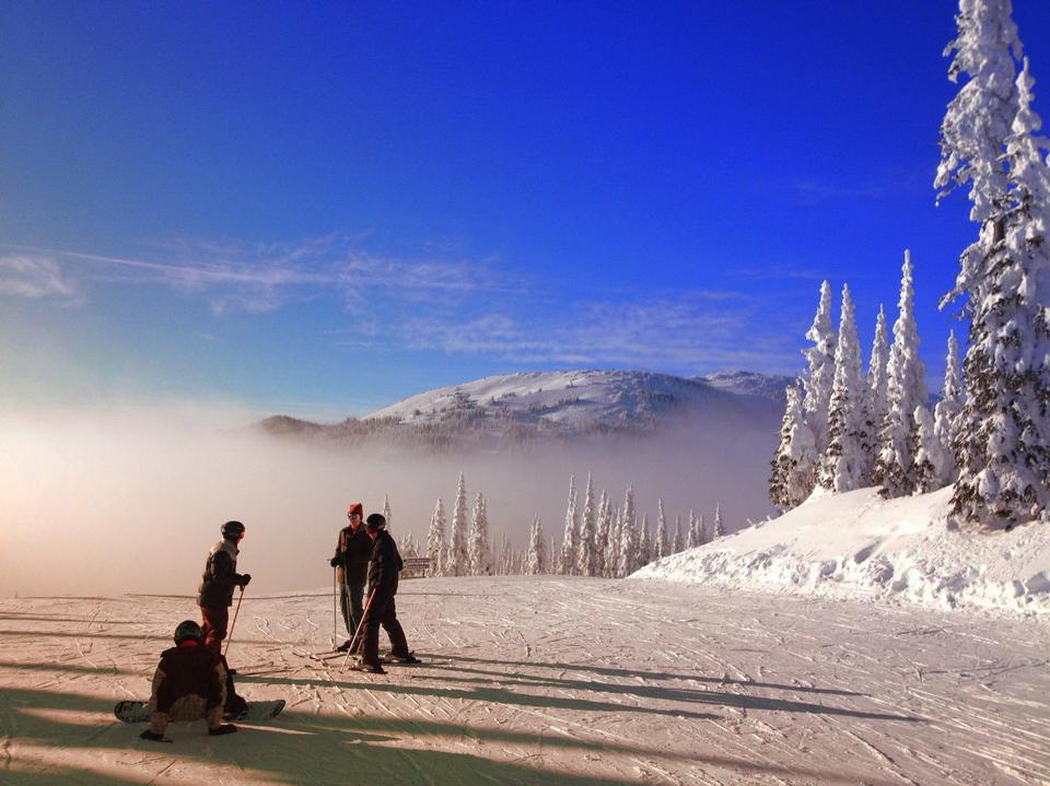 美しいスキー場BCカナダ