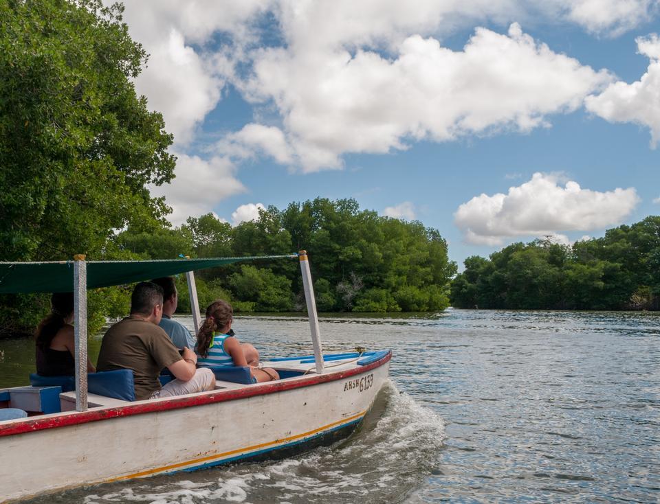 乘船遊覽在拉雷斯廷加湖國家公園