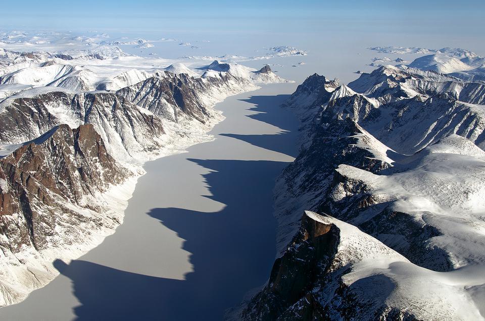 IceBridge vuelo sobre la isla de Baffin