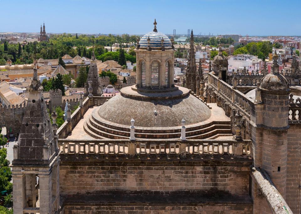 Toit de la cathédrale de Séville de la Giralda de la cathédrale de Séville en