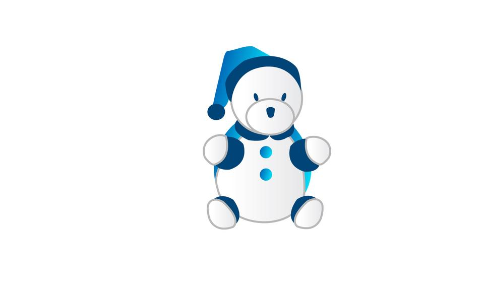 熊玩具矢量插圖