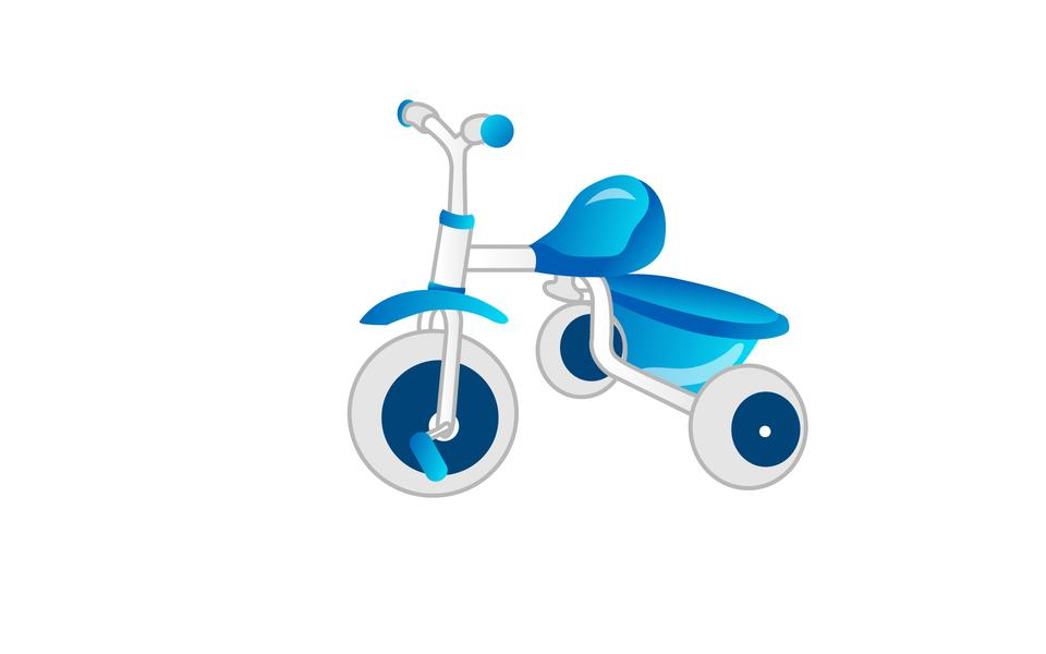 Blue tricycles icon