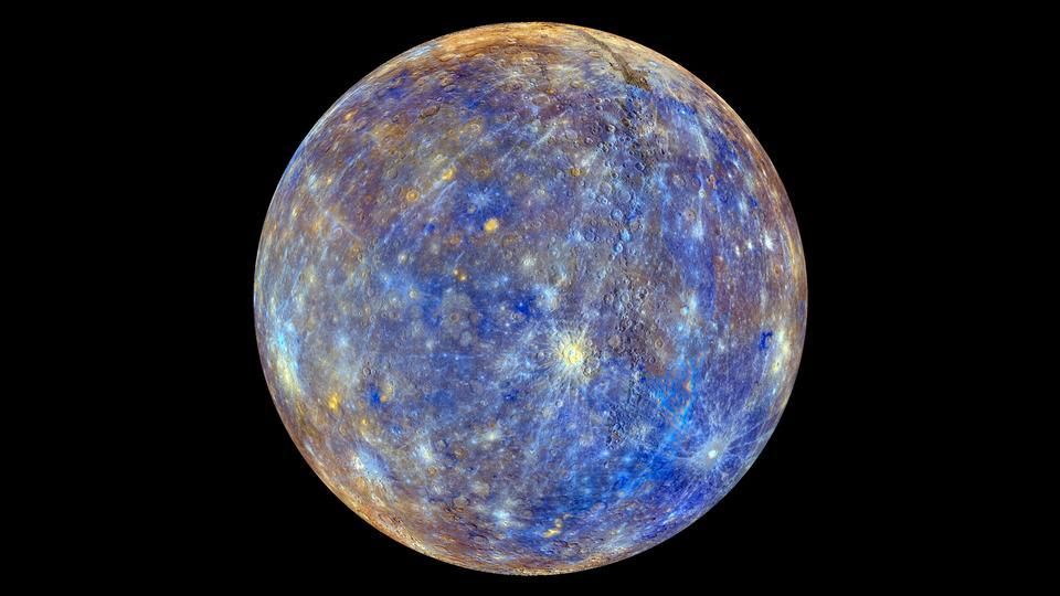 最内层的行星的颜色