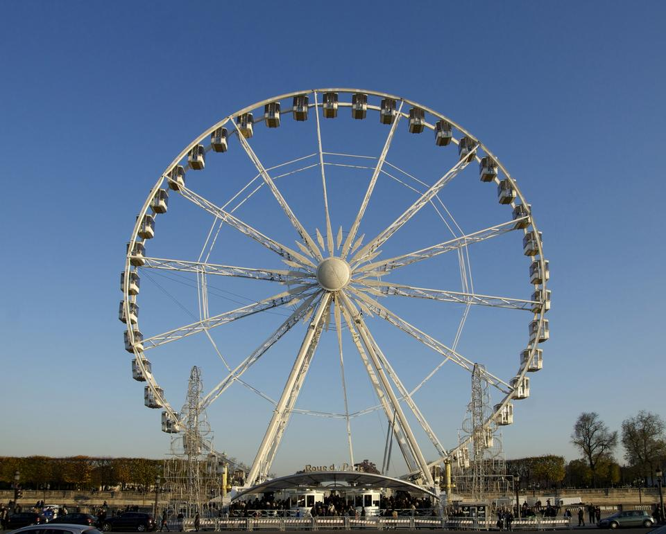 摩天在协和广场在巴黎,法国