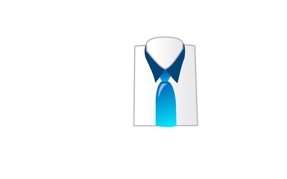 Рубашка и галстук значок человека