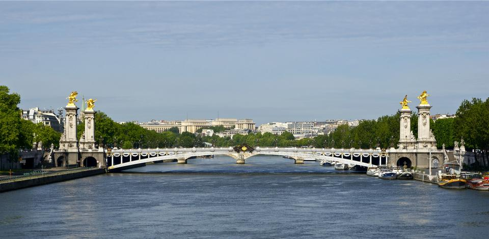 Stunning Pont Alexandre III bridge