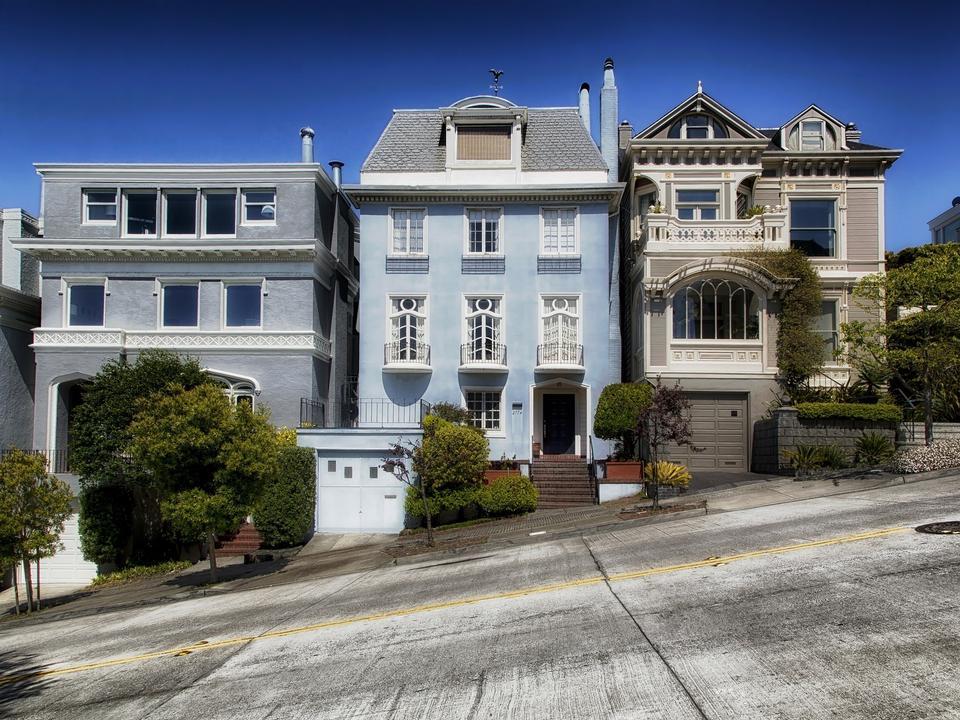 城市房屋旧金山加利福尼亚州