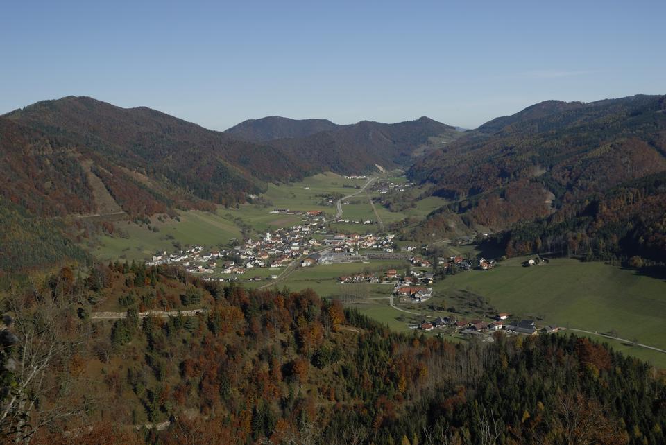 アッパーオーストリアのGaflenzの市場町