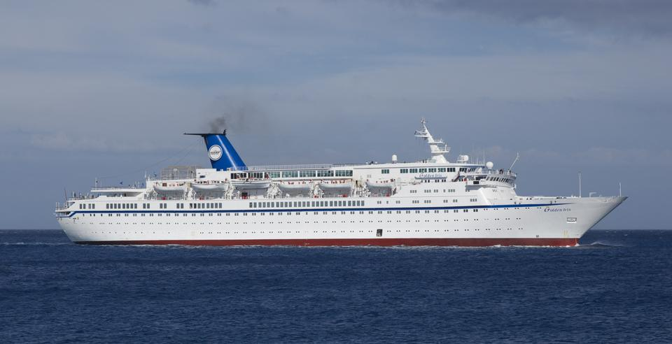 Luxury cruise ship in harbour of Rhodes