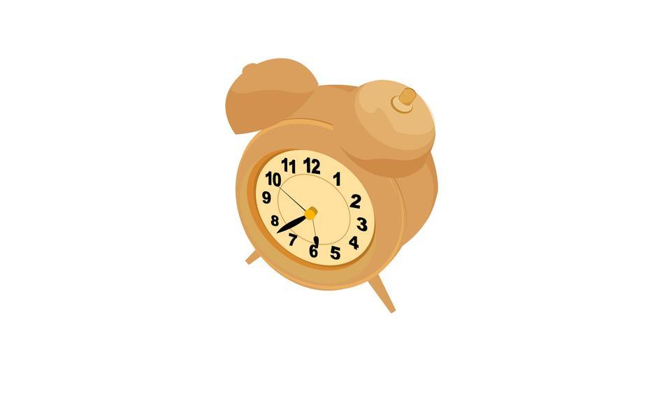 オールドスタイルの目覚まし時計