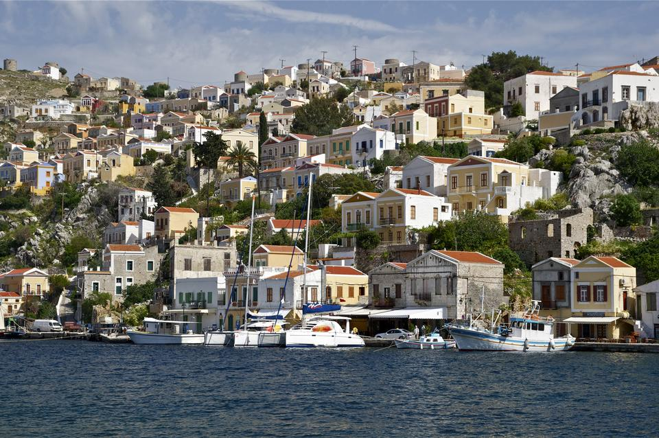 Pier Symi island, Aegean Sea
