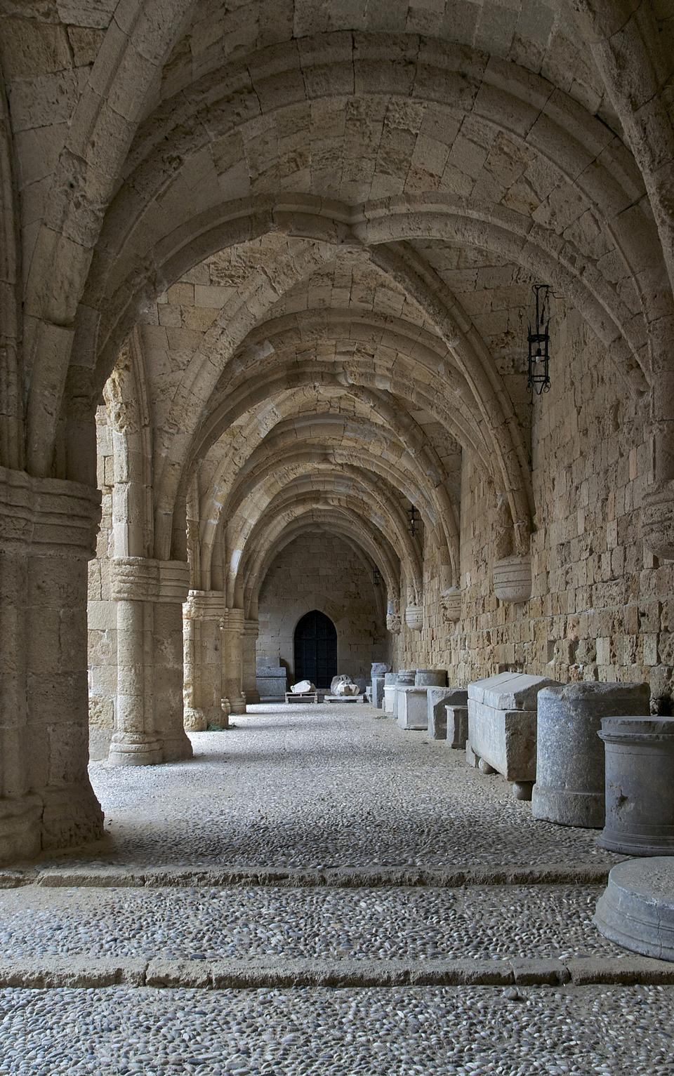 Rhodes - the medieval building of the Hospital of the Knights
