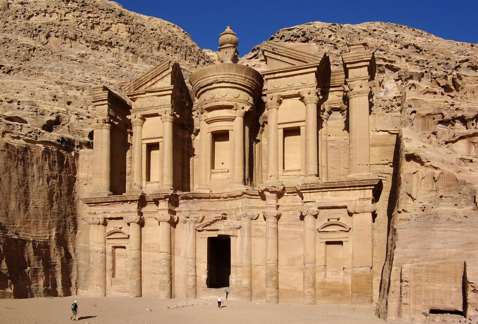 Ad Deir in the ancient Jordanian city of Petra, Jordan
