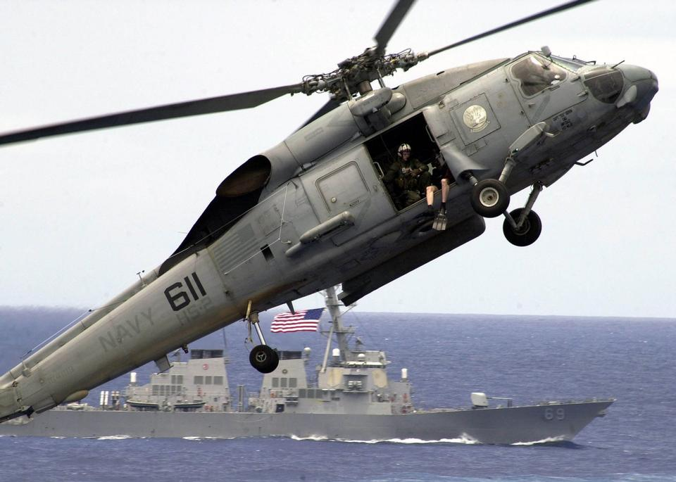 Um helicóptero SH-60 Seahawk