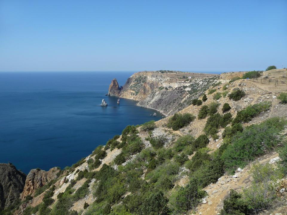 Black sea coast. Fiolent. Crimée. Ukraine