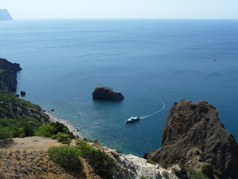黑海沿岸。 Fiolent。克里米亚。乌克兰