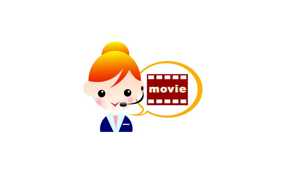 Cartoon office worker in various poses for use in theatre